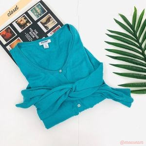 [Old Navy] Teal Button Front Layering Cardigan